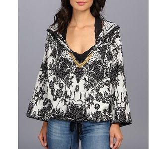 Free People Kanuk Embroidered Hooded Sweater